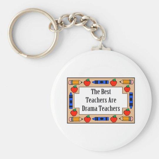 The Best Teachers Are Drama Teachers Basic Round Button Key Ring