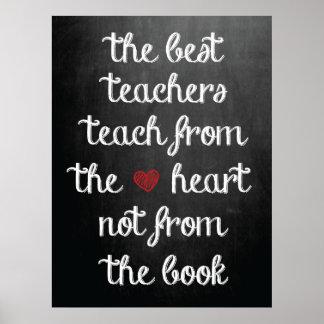 The Best Teachers Poster