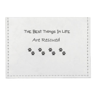 The Best Things In Life Are Rescued Tyvek® Card Case Wallet