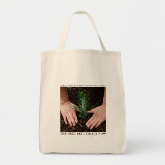 The Best Time To Plant a Tree Tote Grocery Tote Bag