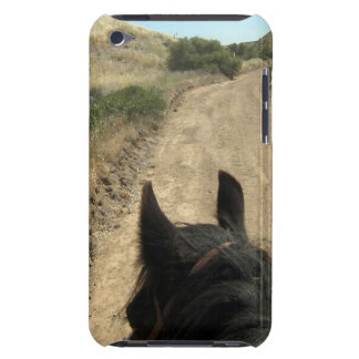 The best view is from the back of a horse iPod touch cover
