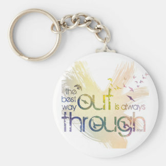 The best way out is always through keychains