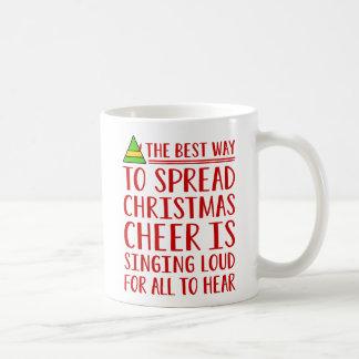 The Best Way To Spread Christmas Cheer Basic White Mug
