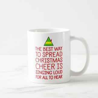 The Best Way To Spread Christmas Cheer Coffee Mug