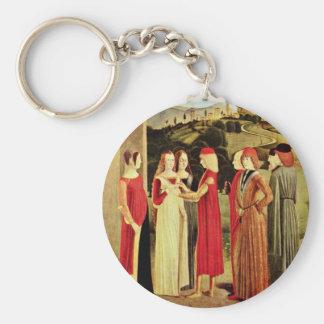 The Betrothal By Italienischer Meister Des 15. Jah Keychains