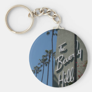 The Beverly Hills Hotel Basic Round Button Key Ring