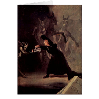 The Bewitched Man by Francisco Goya 1798 Greeting Card