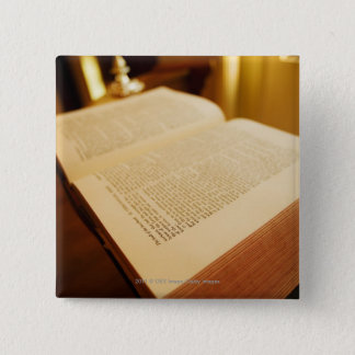 The Bible 15 Cm Square Badge