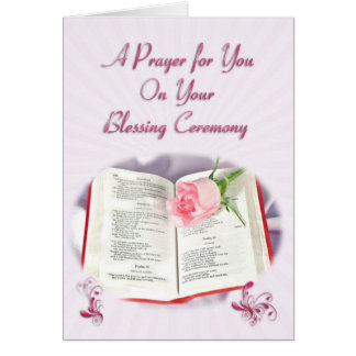The Bible and rose prayer for blessing ceremony Greeting Card