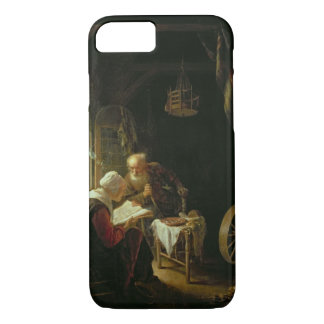 The Bible Lesson, or Anne and Tobias (oil on panel iPhone 7 Case
