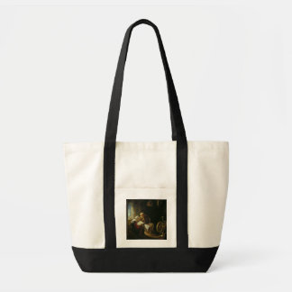 The Bible Lesson, or Anne and Tobias (oil on panel Tote Bag