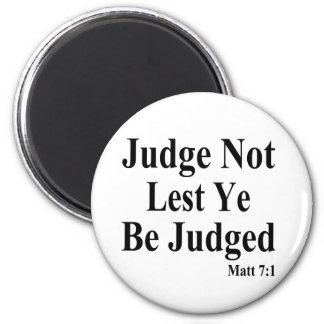 The Bible & Not Judging Others Magnet