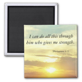 the Bible Philippians 4:13 magnet