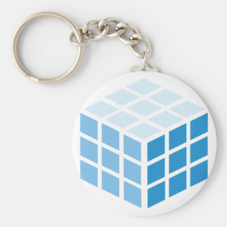 The Bick cube Basic Round Button Key Ring