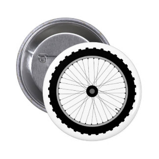 The Bicycle Wheel Badge. 6 Cm Round Badge