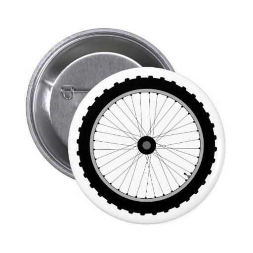 The Bicycle Wheel Badge. Pin