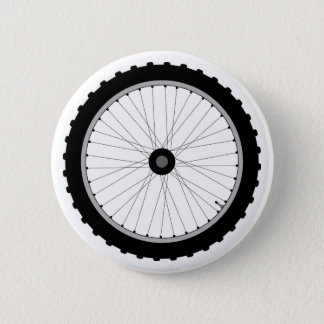 The Bicycle Wheel Badge. 6 Cm Round Badge