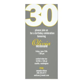 The Big 3-0 Birthday Invitation