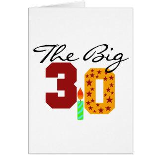 The Big 3-0 Card