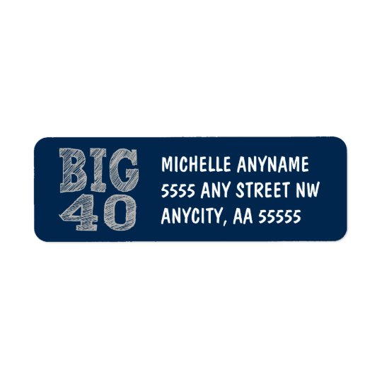 The BIG 40 Fortieth Birthday