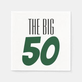 The Big 50 Birthday Party Napkin Disposable Napkin