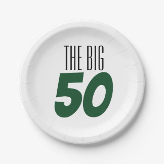 The Big 50 Birthday Party Paper Plate