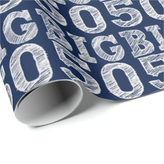 The BIG 50 Fiftieth Birthday Wrapping Paper