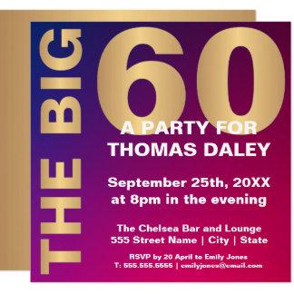 THE BIG 60 BIRTHDAY INVITATION