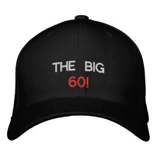 THE BIG, 60! EMBROIDERED BASEBALL CAP