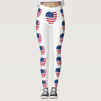 The Big Apple America flag NYC Leggings