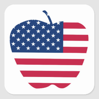 The Big Apple America flag NYC Square Sticker