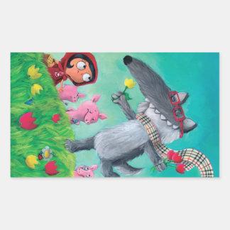 The Big Bad Wolf Rectangular Sticker