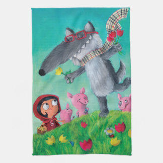 The Big Bad Wolf Tea Towel