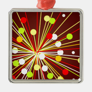 The Big Bang Silver-Colored Square Decoration