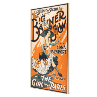 """The Big Banner Show """"The girl from Paris"""" Gallery Wrapped Canvas"""