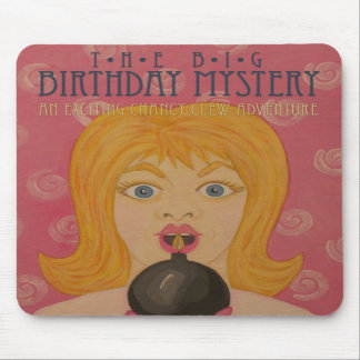 The Big Birthday Mystery: Funny Book Cover Art Mousepad
