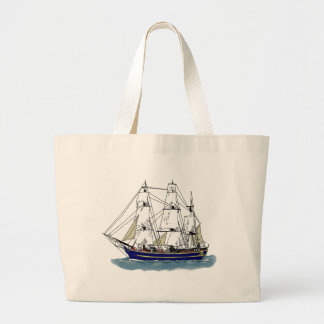 The Big Blue – Tall Ship Tote Bags