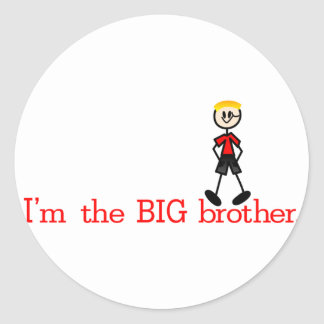 The BIG Brother Round Sticker