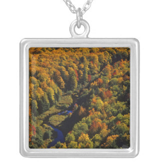 The Big Carp River in autumn at Porcupine Silver Plated Necklace
