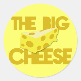 The BIG CHEESE! boss Classic Round Sticker