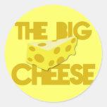 The BIG CHEESE! boss Round Sticker