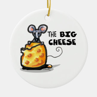 the BIG CHEESE Funny Ornament