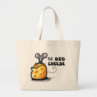 the BIG CHEESE Funny Shopping Tote Bag