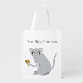 The Big Cheese Reusable Grocery Bag Reusable Grocery Bag