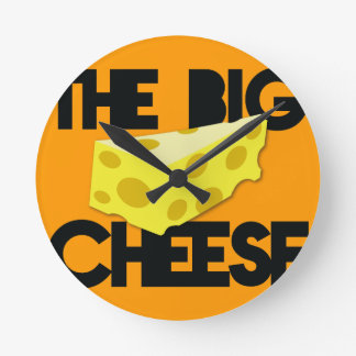The BIG CHEESE! Round Clock