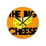 The BIG CHEESE! Round Wallclocks