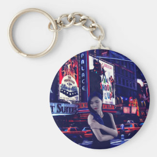The Big City Basic Round Button Key Ring