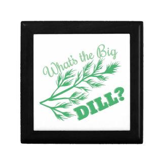 The Big Dill Small Square Gift Box
