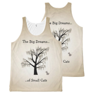 The Big Dreams of Small Cats All-Over Print Tank Top