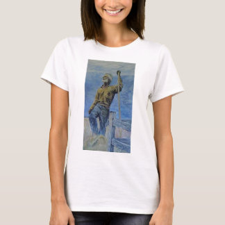 The big dry. An old timer praying for rain. T-Shirt